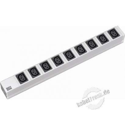Bachmann 19' PDU Basic, Steckdosenleiste 9-fach IEC320 C13 Kaltgerätebuchsen