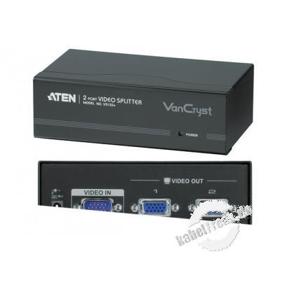 ATEN VGA-Splitter VS132A, High Quality, 2-fach, 450 MHz Verteilt das VGA Signal in höchster Auflösung von 1 Computer auf mehrere Monitore gleichzeitig