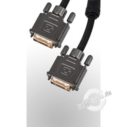 Professional DVI Monitorkabel (DVI-D), High Quality, Duallink, vergoldet, 24+1pol DVI-D St./St., 5,0 m Hochwertiges digitales Monitor/Video-Kabel zur Verbindung von Geräten mit DVI-D Schnittstelle