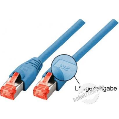 Tecline Patchkabel Cat. 6, S/FTP (PIMF), halogenfrei, blau, 3,0 m Geschirmtes Patchkabel mit Rastnasenschutz