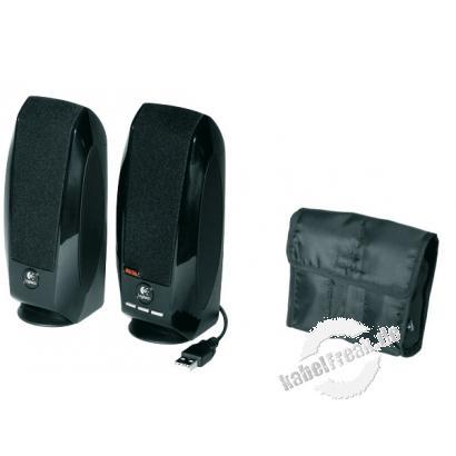 Logitech OEM Notebook-Lautsprecher S150, USB, 1,2 Watt (effektiv) Kompaktes 2-Kanal-Lautsprechersystem mit USB-Anschluss und Reise-Etui