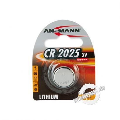 Ansmann Knopfzelle, CR 2025 (3V), VE: 1