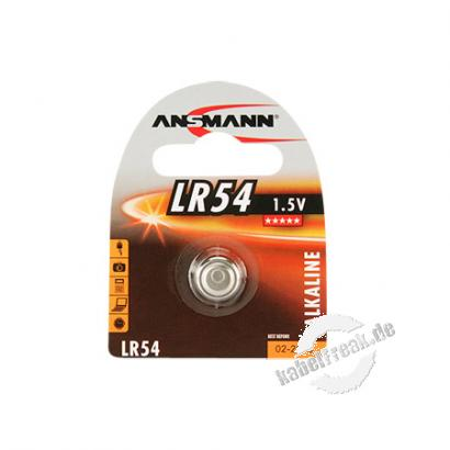 Ansmann Knopfzelle, LR54, 1,5 V Alkaline, VE: 1
