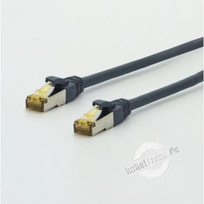 TTLan Patchkabel UltraFlex Cat. 6A ISO/IEC, S/FTP (PiMF), hochflexibel, halogenfrei, blaugrau, 10,0 m Hochflexibles Patchkabel mit geringem Biegeradius für alle Netzwerkanwendungen bis 10 Gigabit