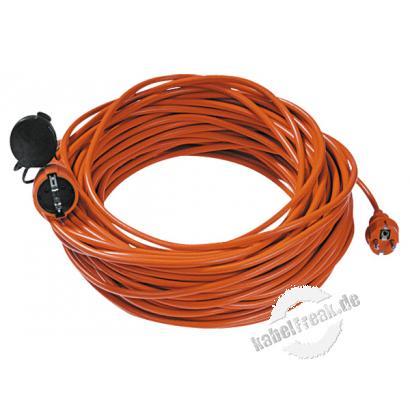 Bachmann Schutzkontakt-Verlängerungskabel, IP20, orange, 25,0 m Verlängerungskabel in Sicherheitsfarbe