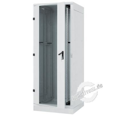 Triton 19' Schwerlast-Serverschrank RDE, 42 HE, 800 x 1000mm, Schutzart: IP54, mit Sockel, hellgrau RAL 7035 Serverschrank mit einer Tragkraft von 1300 kg für den Einsatz in Rechenzentren