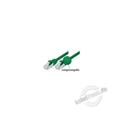 Patchkabel Cat. 5e, SF/UTP, mit Rastnasenschutz, grün, 0,5 m Geschirmtes Patchkabel mit schmalem Knickschutz