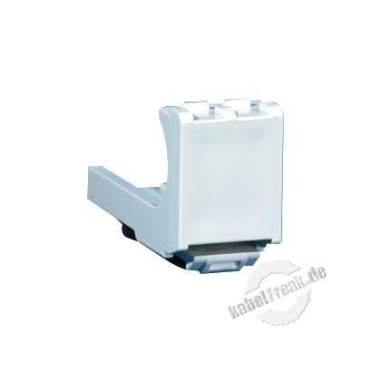 MetzConnect Blindmodul Blindmodul zum Verschließen nicht bestückter Öffnungen imModulträger, Datendose oder IP 44 Aufputzgehäuse