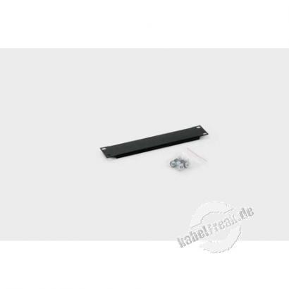 Triton 10' Blindplatte, 1 HE, Stahlblech, schwarz RAL 9005 Zur Abdeckung der freien Räume zwischen den 10' Profilen