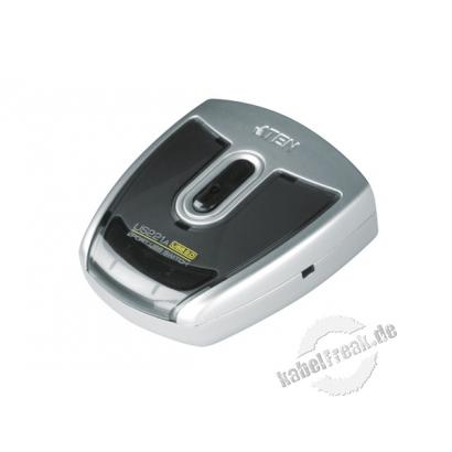 ATEN USB 2.0 Switch, 2 Port Mehrere PCs oder MACs teilen sich ein USB-Gerät