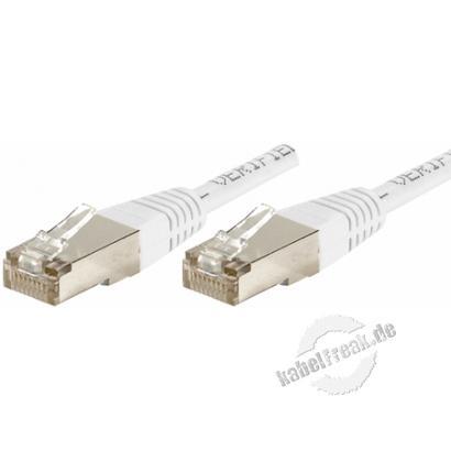Patchkabel Cat. 6, S/FTP (PiMF), weiß, 1,0 m Geschirmtes Patchkabel mit schmalem Knickschutz