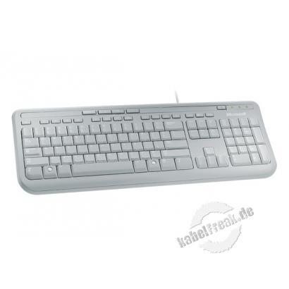 Microsoft Wired Keyboard 600, USB, beige Preisgünstige Multimedia-Tastatur
