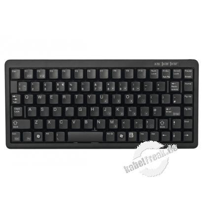 Cherry Tastatur G84-4100 KOMPAKT, USB und PS/2, schwarz Kompakte Tastatur mit USB und PS/2 Anschluss