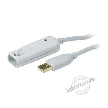 ATEN Aktives USB 2.0 Verlängerungskabel, USB St. A/Bu. A, 12,0 m Zum Verlängern eines USB Anschlusskabels auf 12 m