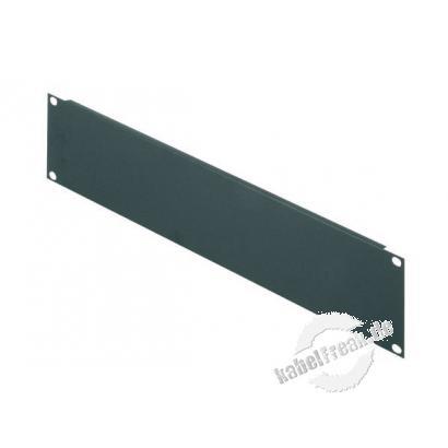 Triton 19' Blindplatte, 2 HE, Stahlblech, schwarz RAL 9005 Zur Abdeckung der freien Räume zwischen den 19' Profilen