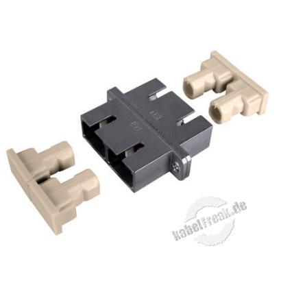 LWL Kupplung SC/SC, Duplex, Singlemode, Metall-Gehäuse mit Keramik-Ferrule