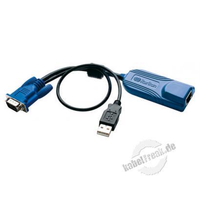 Raritan Computer Interface Modul D2CIM-VUSB für Virtual Media, USB, VGA Wird benötigt für virtual media (BIOS Zugriff) und ' absolute mouse synchronisatiom' und Smart Card Einsatz