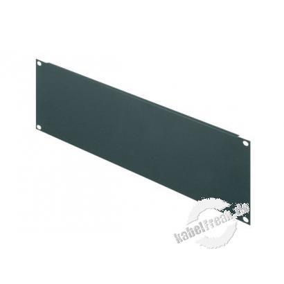 Triton 19' Blindplatte, 3 HE, Stahlblech, schwarz RAL 9005 Zur Abdeckung der freien Räume zwischen den 19' Profilen
