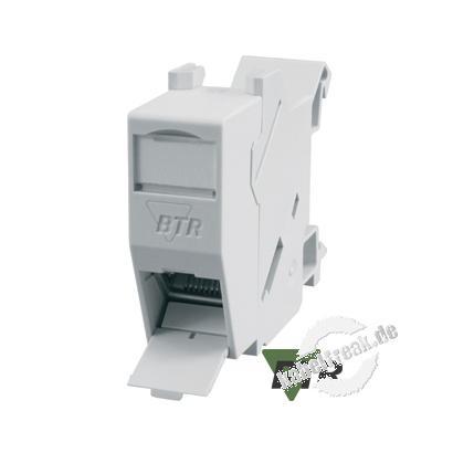 Metz Connect E-DAT modul REG 8(8) IP20, Anschlussbuchse, Cat.6A Zum Einbau in die Elektro-Unterverteilung