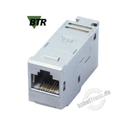 Metz Connect E-DAT modul Anschlussbuchse, Cat.6A Zum Einbau in Modulträger oder IP 44 Aufputzgehäuse