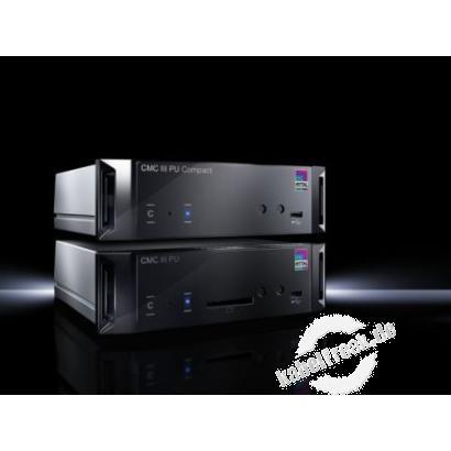 Rittal 7030.010 CMC III Processing Unit Compact, System zur Überwachung von IT-Racks, Schaltschränken oder Räumen.  Zu den integrierten Sensoren können bis zu 32/4 externe Sensoren /CAN-Bus Anschlusseinheiten angebunden werden