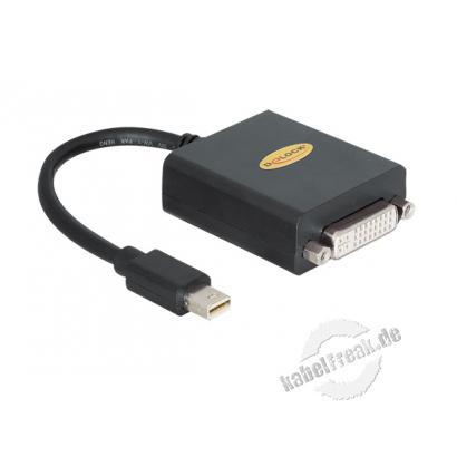 DeLOCK Adapter mini-DisplayPort St. / DVI-I Bu. Mit diesem mini DisplayPort Adapter von Delock können Sie Ihr MacBook, MacBook Pro oder auch MacBook Air um einen DVI 24+5 Port erweitern und z.B. einen Monitor anschließen