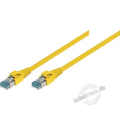 Leoni Patchkabel S/FTP, PiMF, Cat.6A, gelb, 0,5 m Für 10 Gigabit/s, halogenfrei, mit Leoni-Kabel und Leoni-Steckern