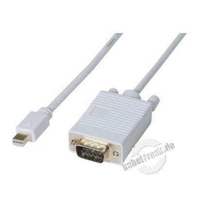 Mini DisplayPort 1.1 zu VGA Adapterkabel, Mini DisplayPort St./ VGA, 2,0 m