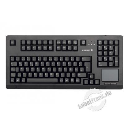 Cherry Tastatur G80-11900 TOUCHBOARD, USB, schwarz Kompakt-Tastatur mit integriertem Touchpad und erweitertem Layout