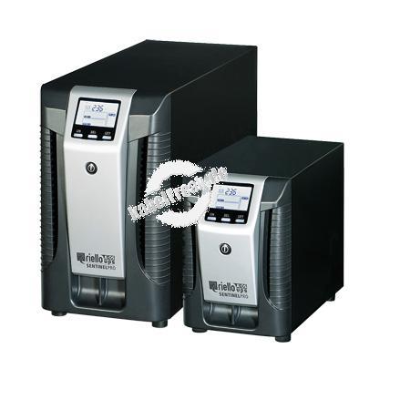Riello SEP 700-6 Sentinel Pro Tower-Serie USV, 700 VA / 560 Watt, LCD-Anzeige, Online USV Stromversorgung mit  ONLINE Doppelumwandlungstechnologie ohne Umschaltzeit, für kleine bis mittlere Computernetze, Local Area Networks (LAN), Workstations, Server, K