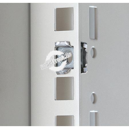 Rittal Käfigmutter M6 mit Kontaktierung zur Befestigung von Elektronik-Einschüben, 482,6 mm (19˝)-Einbauten und Blindplatten an den Befestigungsprofilen