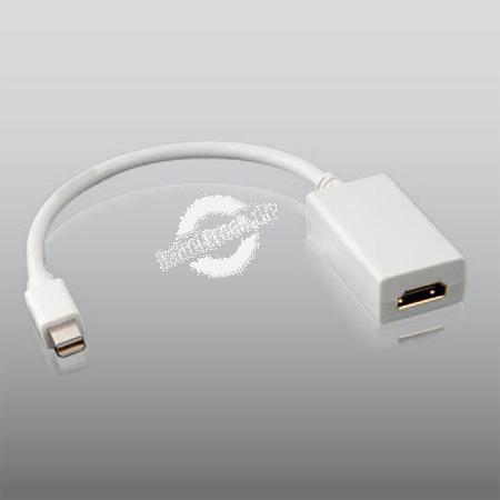 Mini-DisplayPort auf HDMI Adapter für Apple/Mac, Mini-DisplayPort St. / HDMI Bu., 0,20 m Adapter Mini-DisplayPort-Stecker auf HDMI-Buchse zum Anschluß externer Geräte für MacBook, MacBook Pro und MacBook Air mit Mini-Displayport-Schnittstelle