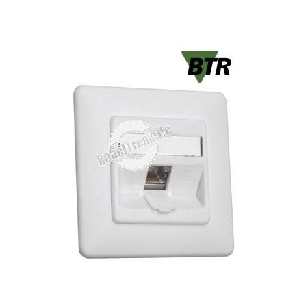 MetzConnect Datendose C6Amodul, Cat.6A (ISO), 180°, 1-fach, Unterputz, reinweiß RAL 9010 Zum Anschluss von einem PC