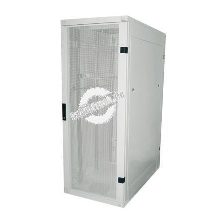 Triton 19' Serverschrank RZA, 22 HE, 800 x 1000 mm, hellgrau RAL 7035 Serverschrank mit 4 Holmen, vorn perforierte Tür, hinten perforierte Rücktür, komplett zerlegbar