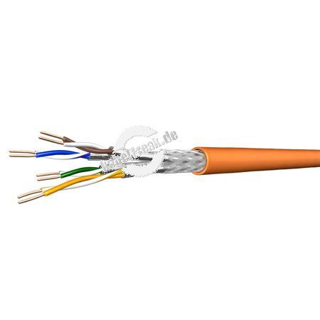 Draka Installationskabel UC900 SS23, Cat. 7, S/FTP (PiMF), halogenfrei, orange, 100 m Ring Paarweise und gesamtgeschirmtes Netzwerk-Installationskabel