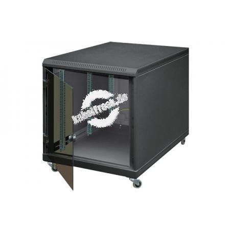 Triton 19' Untertisch-Netzwerkschrank, 12 HE, 600 x 900 mm, schwarz RAL 9005 Netzwerkschrank mit 4 Holmen zum Aufstellen unter Schreibtischen