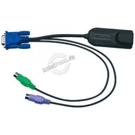 Raritan Computer Interface Modul DCIM-PS2, VGA und PS/2 Wird benötigt für virtual media (BIOS Zugriff) und ' absolute mouse synchronisatiom' und Smart Card Einsatz