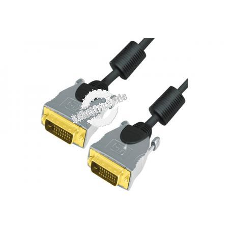 Professional DVI Monitorkabel (DVI-D), High Quality, Duallink, vergoldet, 24+1pol DVI-D St./St., 7,5 m Hochwertiges digitales Monitor/Video-Kabel zur Verbindung von Geräten mit DVI-D Schnittstelle