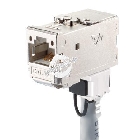 MetzConnect C6Amodul Anschlussbuchse, Cat.6A, 270° Zum Einbau in Modulträger, Datendosen oder IP 44 Aufputzgehäuse