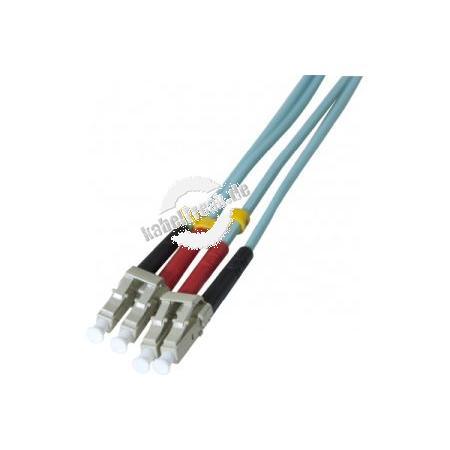 LWL Patchkabel, 50/125 µm, OM3-Faser, LC Duplex Stecker/Stecker, türkis, 8,0 m
