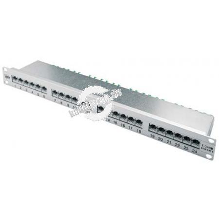 Metz Connect Patchfeld E-DAT C6, Cat.6, 24 Port, 19', silber eloxiert