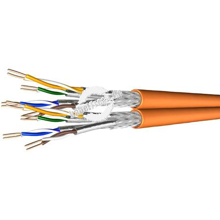 Draka Duplex-Verlegekabel UC900 SS23, Cat.7, S/FTP, PiMF, orange, 100 m Ring Paarweise und gesamtgeschirmtes Netzwerk-Installationskabel (bisherige Bezeichnung S/STP)