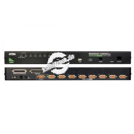ATEN KVM Switch, USB und PS/2, 8-fach, 19' 8 PCs mit USB- oder PS/2-Anschluss werden von 1 Arbeitsplatz (USB oder PS/2 Tastatur, Monitor, USB oder PS/2 Maus) gesteuert