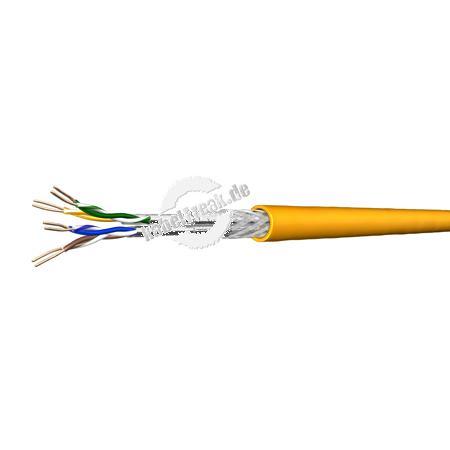 Draka Installationskabel UC MULTIMEDIA 1500 SS22, Cat. 7 (8), 6FOILS S/FTP (PiMF), LSZH, gelb, 100 m Ring Paarweise und gesamtgeschirmtes Netzwerk-Installationskabel