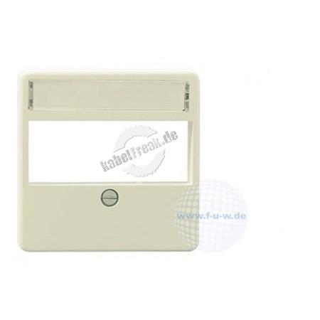 Rutenbeck Zentralplatte für Datendosen, 3-fach, perlweiß RAL 1013 Abdeckung für Kanaleinbau-Dose