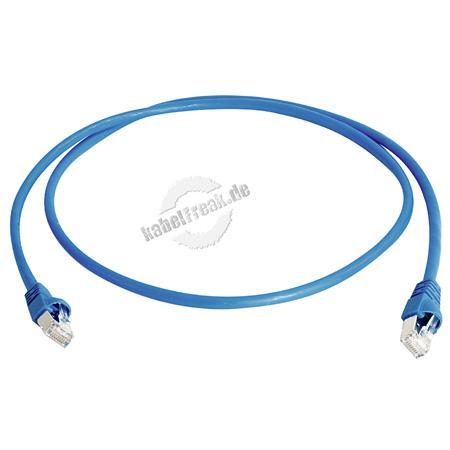Telegärtner Patchkabel Cat. 6A ISO/IEC, S/FTP (PiMF), halogenfrei, blau, 20,0 m Für 10 Gigabit/s, halogenfrei, mit Telegärtner Kabel und Telegärtner-Steckern