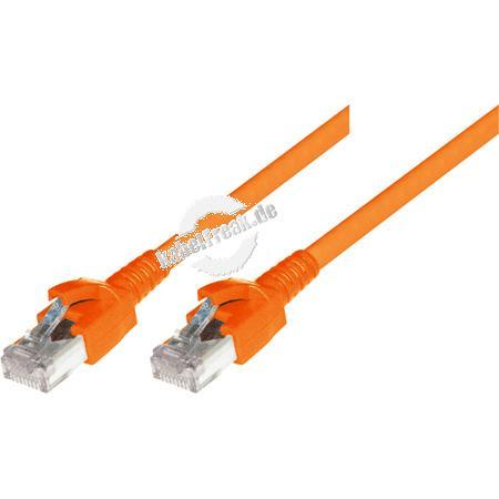 Dätwyler Patchkabel S/FTP, PiMF, Cat.6A, orange, 15,0 m Premium Patchkabel, Dätwyler CAT.7 Rohkabel, Dätwyler Stecker, halogenfrei