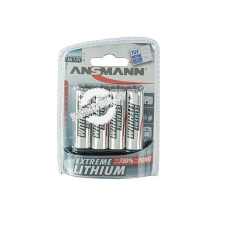 Ansmann Extreme Lithium Batterie, Mignon (AA), VE: 4 Stück Mehr Kraft, mehr Energie, mehr Leistung bei einer extrem langen Lebensdauer - 4er Blister