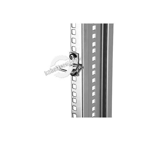 Triton Kabelrangierbügel, Kabelführung senkrecht, Kabeleinführung seitlich, Befestigung seitlich versetzt, B 40 x T 40 mm Zur geordneten Führung der Kabel im Netzwerkschrank