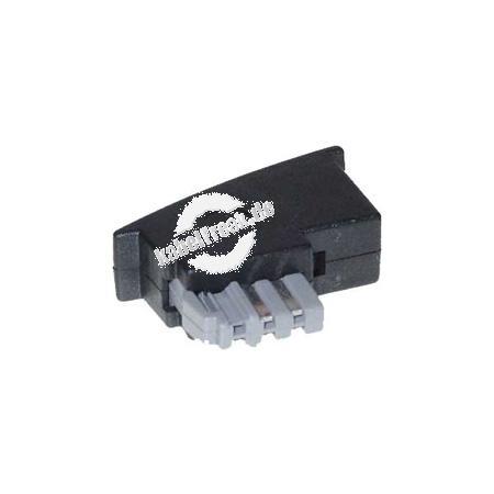 Adapter TAE N Stecker auf RJ11 Buchse (6P2C) Zum Anschluss von Geräten mit RJ11 Stecker an TAE Anschlussdosen